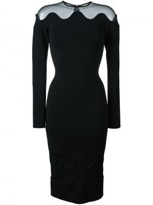 Платье с прозрачной вставкой David Koma. Цвет: чёрный