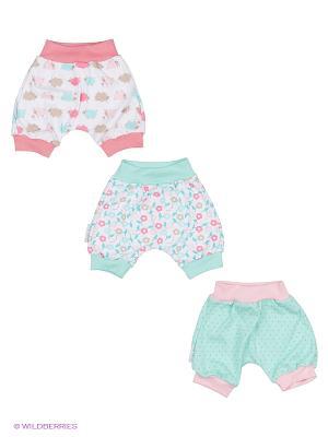 Комплект детский: шорты 3 шт. Lucky Child. Цвет: бирюзовый, розовый, белый