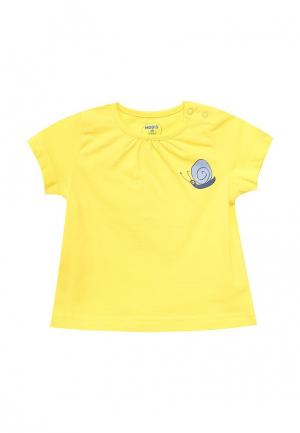 Футболка Modis. Цвет: желтый