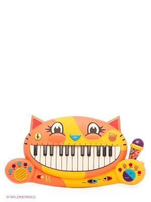 Музыкальная игрушка Мини-пианино Battat. Цвет: оранжевый, горчичный