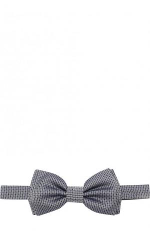 Шелковый галстук-бабочка BOSS. Цвет: серый