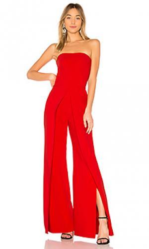 Пляжный костюм с широкими брюками carice Alexis. Цвет: красный