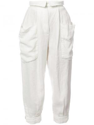 Укороченные зауженные брюки Osklen. Цвет: белый