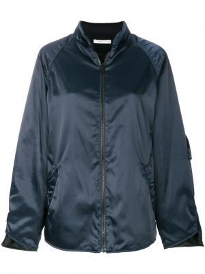 Куртка-бомбер с отливом 6397. Цвет: синий