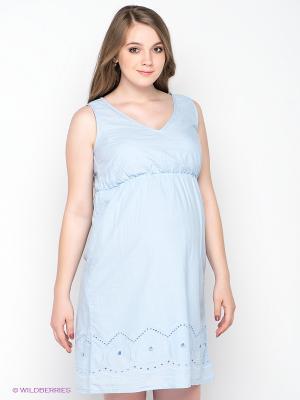 Платье Mama Licious. Цвет: светло-голубой