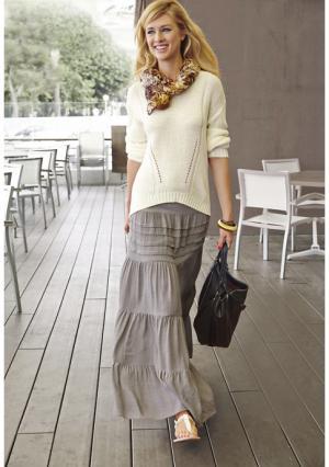 Юбка Aniston. Цвет: песочный