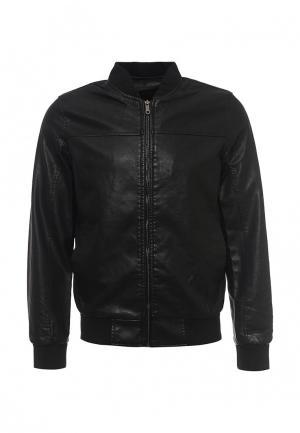 Куртка кожаная B.Men. Цвет: черный