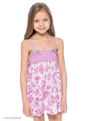 Сарафан Bora. Цвет: белый, фиолетовый