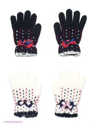 Перчатки, 2 пары FOMAS. Цвет: черный, белый