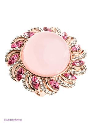Кольцо Bijoux Land. Цвет: розовый, золотистый