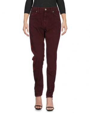 Джинсовые брюки SANDRINE ROSE. Цвет: красно-коричневый
