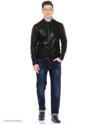 Кожаная куртка Lambskin. Цвет: черный