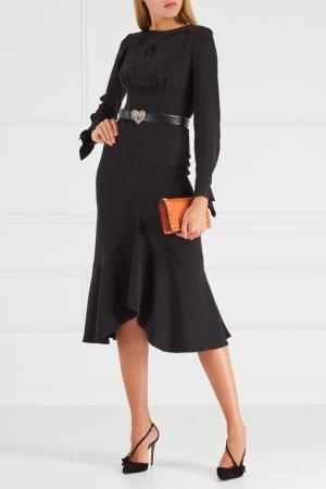 Платье с оборками Chapurin. Цвет: черный