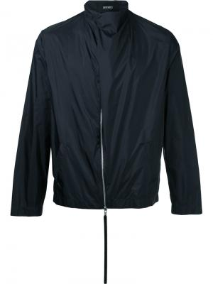 Куртка со смещенной застежкой Berthold. Цвет: чёрный