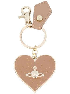 Брелок в форме сердца Vivienne Westwood. Цвет: телесный