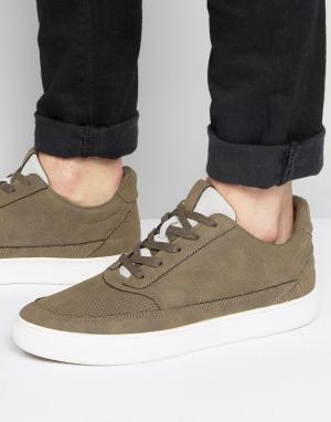 Systvm Серо-коричневые кроссовки средней высоты. Цвет: коричневый