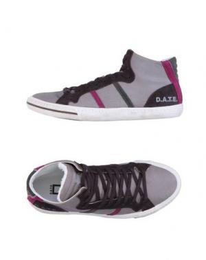 Высокие кеды и кроссовки D.A.T.E.. Цвет: голубиный серый