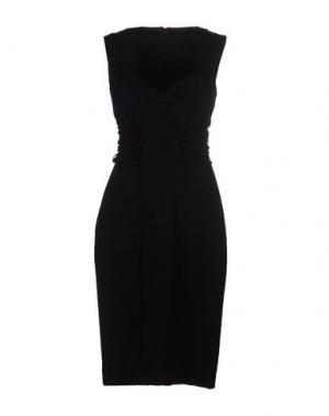 Платье до колена MILA SCHÖN. Цвет: черный