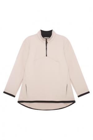 Хлопковая блузка VIKTORIA IRBAIEVA. Цвет: пудровый