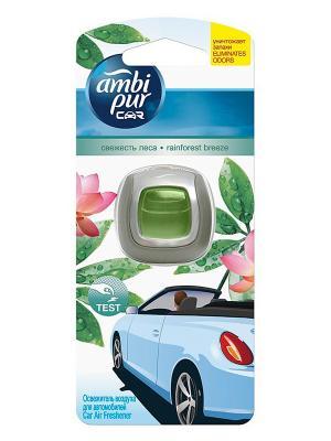 Освежитель воздуха для автомобиля Свежесть леса, 2мл AMBI PUR. Цвет: зеленый