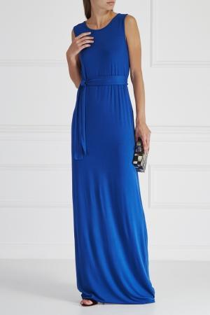 Однотонное платье HOSS INTROPIA. Цвет: синий