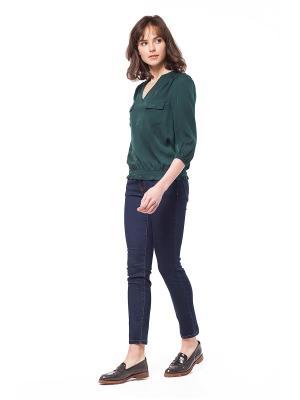 Блузка VILATTE. Цвет: темно-зеленый