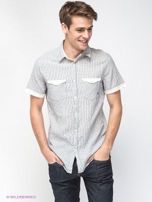 Рубашка GAS. Цвет: сиреневый, светло-бежевый
