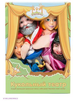 Кукольный театр Кот в сапогах Жирафики. Цвет: светло-бежевый, синий