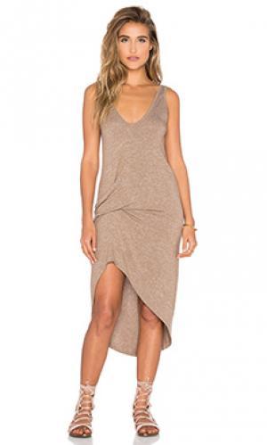 Платье bianca Riller & Fount. Цвет: коричневый