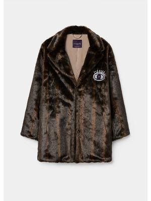 Пальто - FURTY Violeta by Mango. Цвет: темно-коричневый