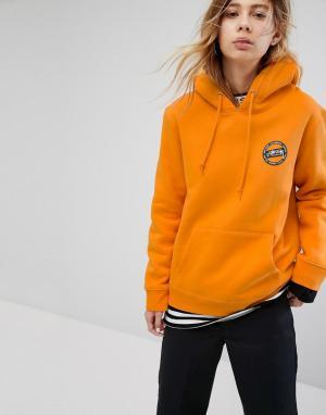 Stussy Худи с логотипом на спине. Цвет: оранжевый