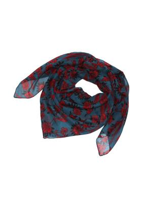 Платок Ethnica. Цвет: бирюзовый, темно-красный