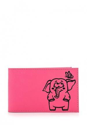 Визитница Fabula. Цвет: розовый