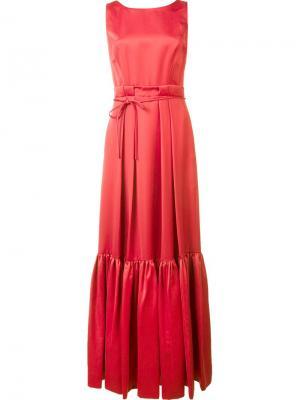 Длинное платье Kristin Zac Posen. Цвет: красный