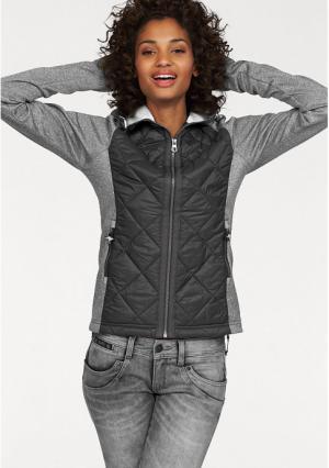 Флисовая куртка Kangaroos. Цвет: серый меланжевый/темно-серый