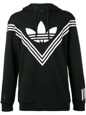 Толстовка с логотипом WM Adidas By White Mountaineering. Цвет: чёрный