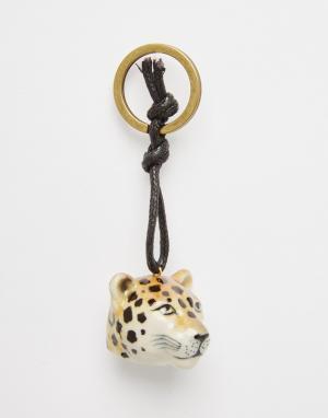 And Mary Подарочный брелок с фарфоровым леопардом в упаковке