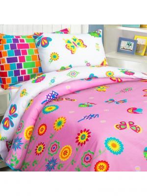 Комплект постельного белья Mona Liza Kids Бабочки. Цвет: светло-желтый, белый, розовый