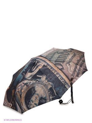 Зонт Flioraj. Цвет: коричневый, темно-серый