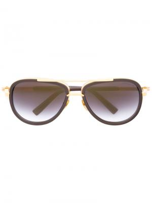 Солнцезащитные очки Mach two Dita Eyewear. Цвет: серый