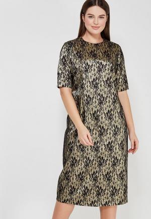 Платье XLady. Цвет: золотой
