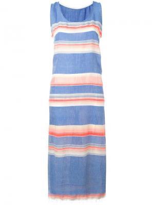 Платье без рукавов Elsi Lemlem. Цвет: синий