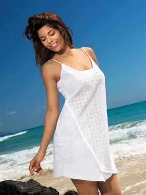 Сорочка Mia-Mia. Цвет: белый