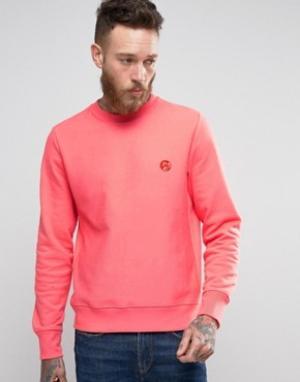 PS by Paul Smith Розовый свитшот с круглым вырезом и логотипом. Цвет: розовый