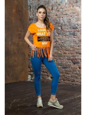 Футболка MONDIGO. Цвет: оранжевый
