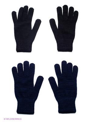 Перчатки FOMAS. Цвет: черный, темно-синий