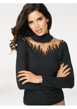 Пуловер Ashley Brooke. Цвет: черный