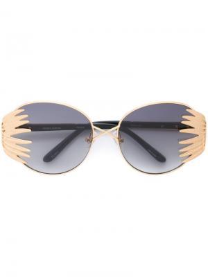 Солнцезащитные очки кошачий глаз Prabal Gurung. Цвет: металлический