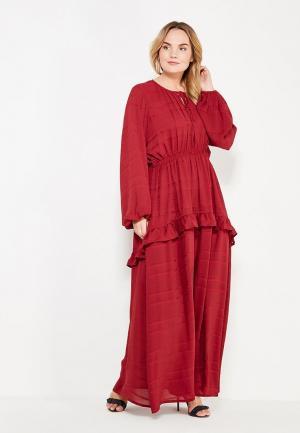 Платье LOST INK PLUS. Цвет: бордовый