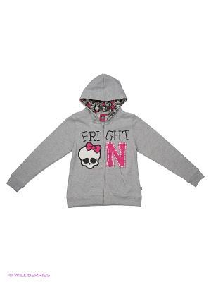 Толстовка Monster High. Цвет: серый меланж